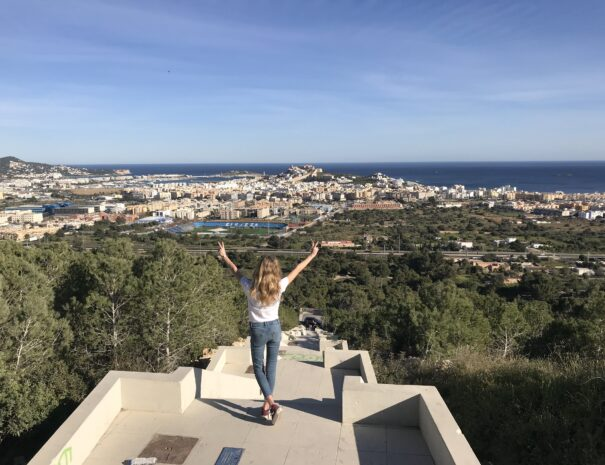 Ibiza stad trappen view point
